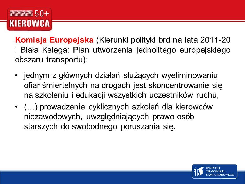 Komisja Europejska (Kierunki polityki brd na lata 2011-20 i Biała Księga: Plan utworzenia jednolitego europejskiego obszaru transportu):