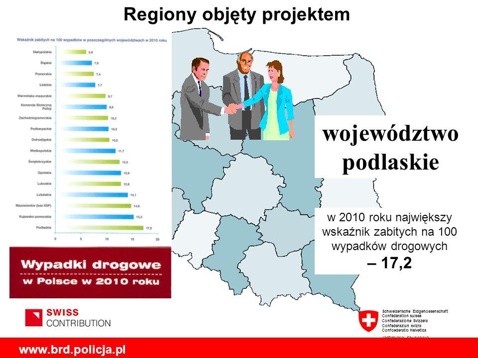 Regiony objęty projektem województwopodlaskie