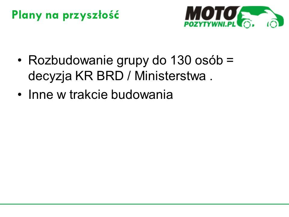 Rozbudowanie grupy do 130 osób = decyzja KR BRD / Ministerstwa .