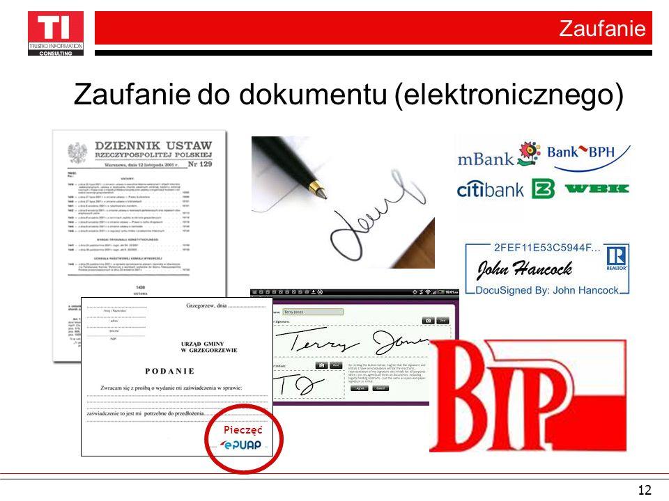Zaufanie do dokumentu (elektronicznego)