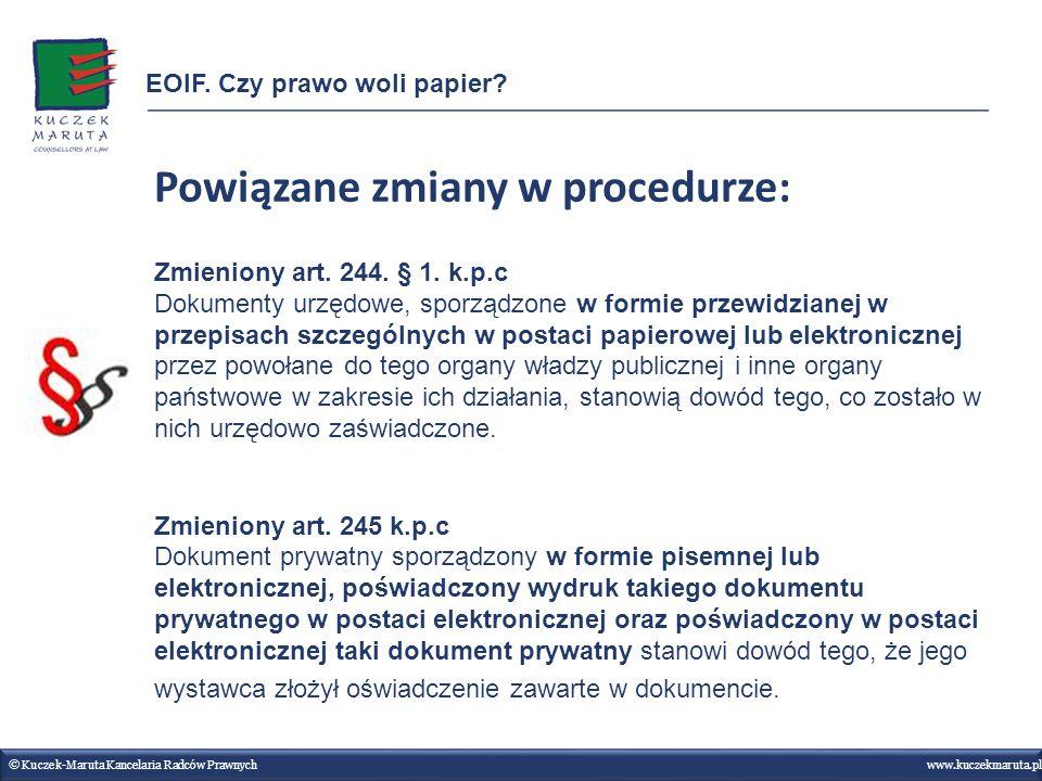 Powiązane zmiany w procedurze: