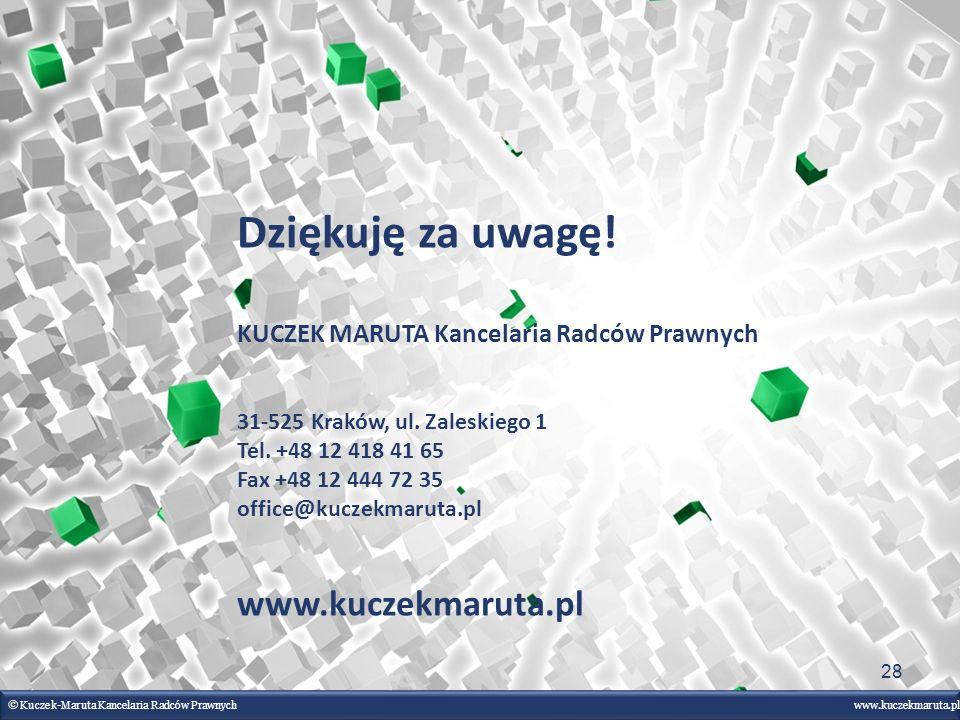 Dziękuję za uwagę! www.kuczekmaruta.pl