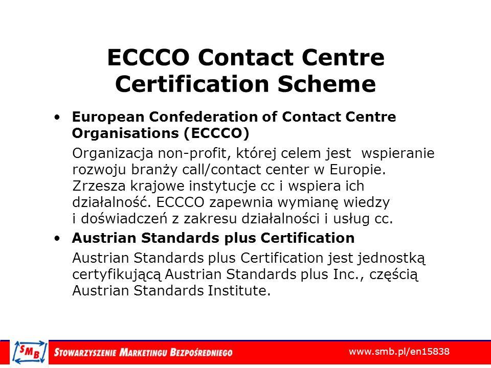 ECCCO Contact Centre Certification Scheme