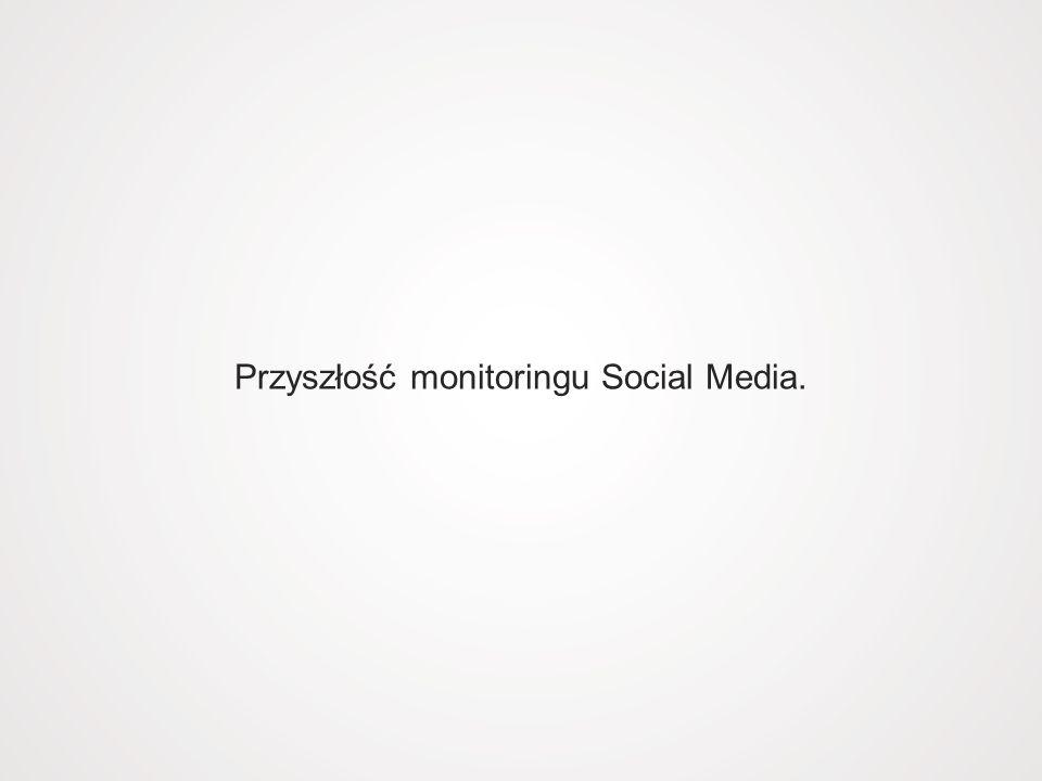 Przyszłość monitoringu Social Media.
