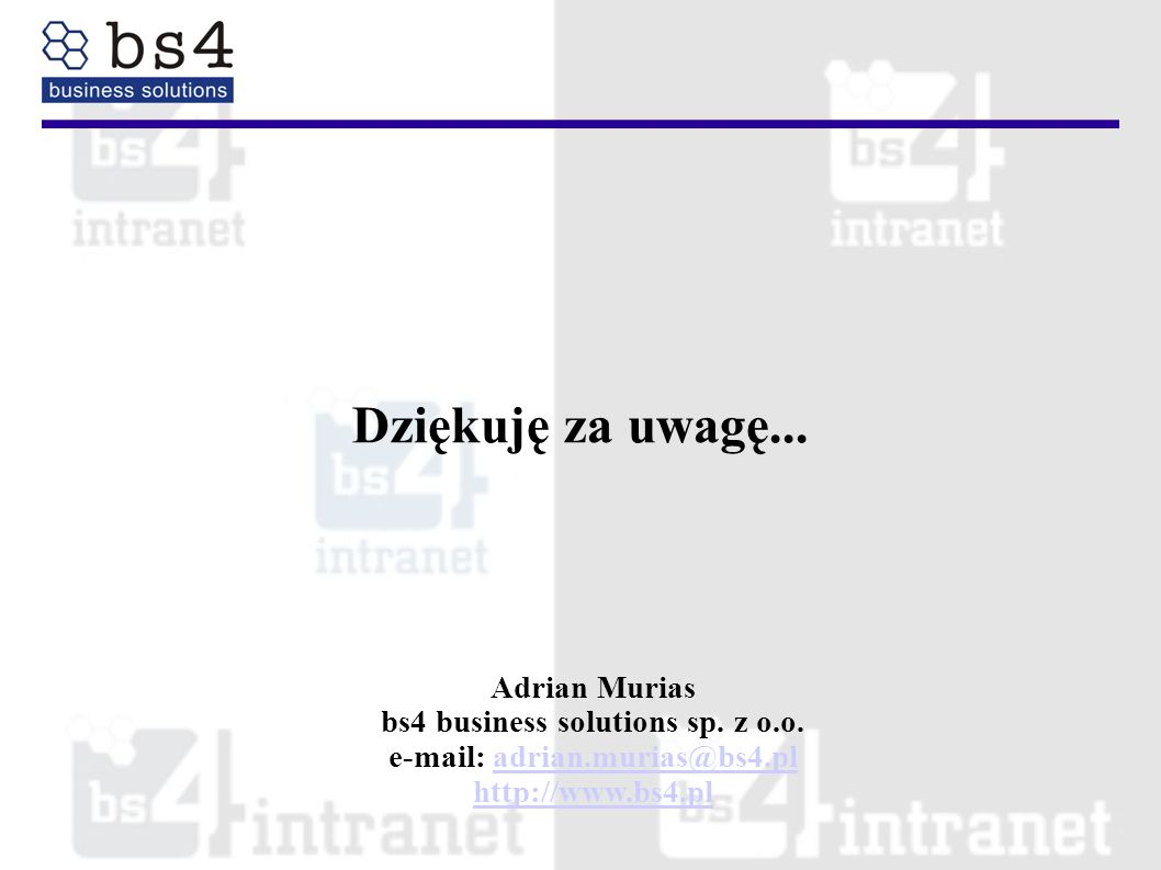 bs4 business solutions sp. z o.o. e-mail: adrian.murias@bs4.pl