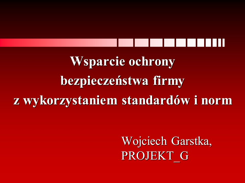 Wojciech Garstka, PROJEKT_G