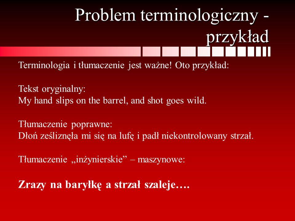 Problem terminologiczny - przykład
