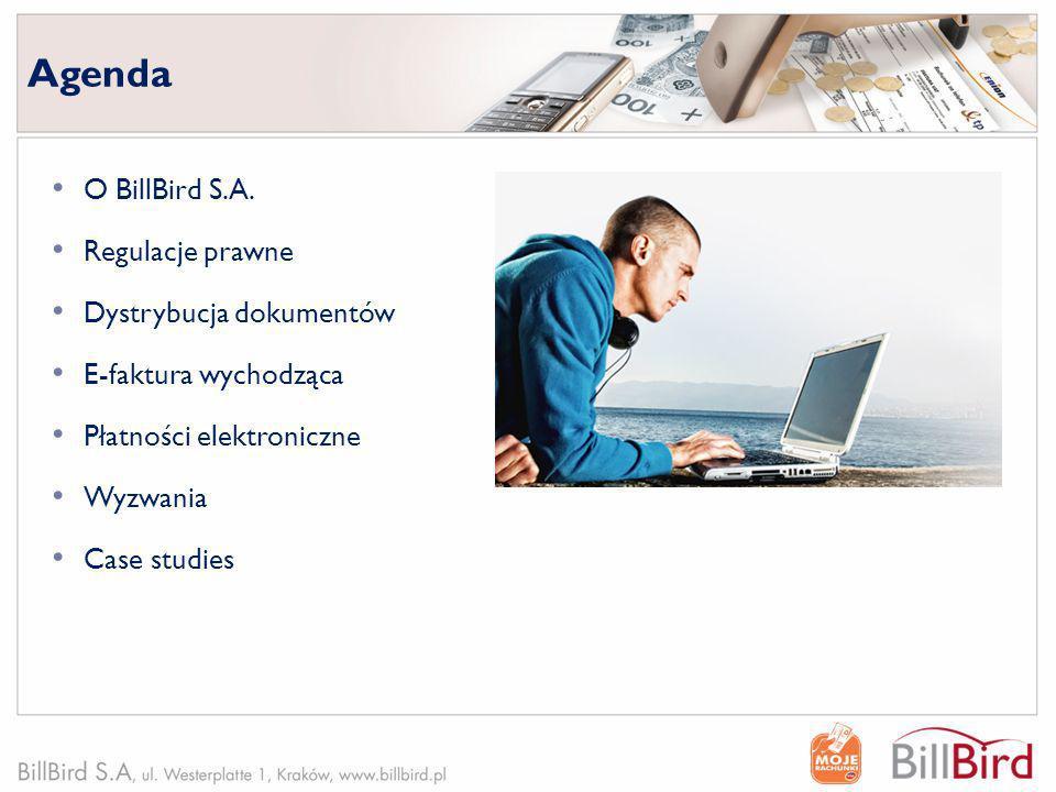 Agenda O BillBird S.A. Regulacje prawne Dystrybucja dokumentów
