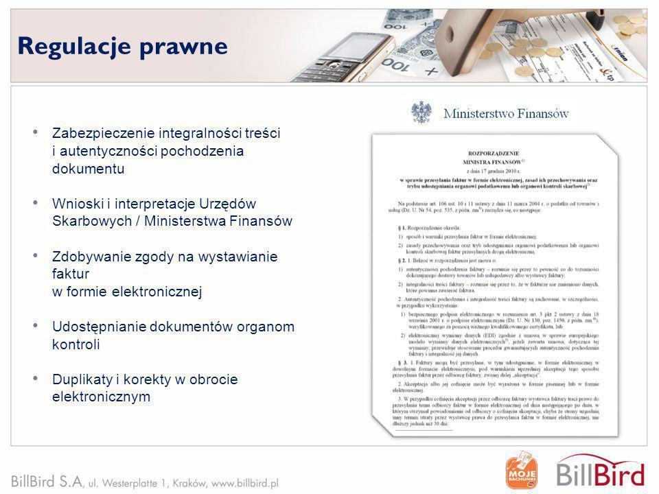 Regulacje prawne Zabezpieczenie integralności treści i autentyczności pochodzenia dokumentu.