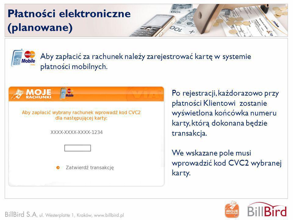 Płatności elektroniczne (planowane)