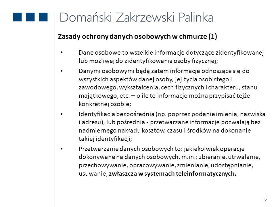 Zasady ochrony danych osobowych w chmurze (1)