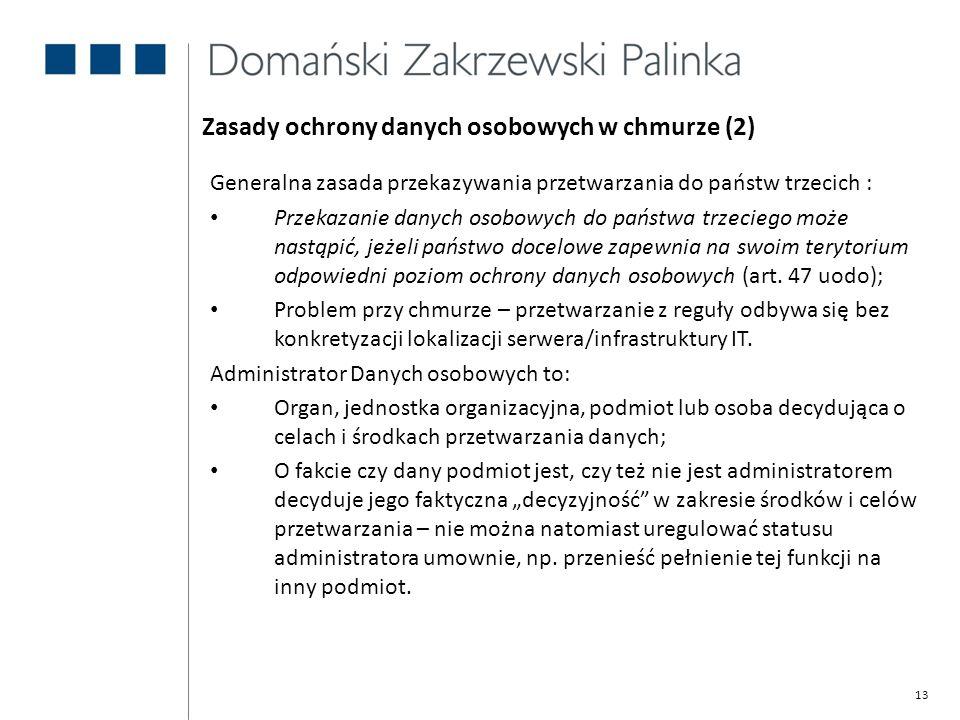 Zasady ochrony danych osobowych w chmurze (2)