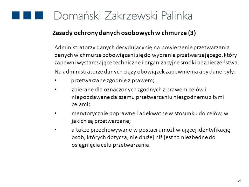 Zasady ochrony danych osobowych w chmurze (3)