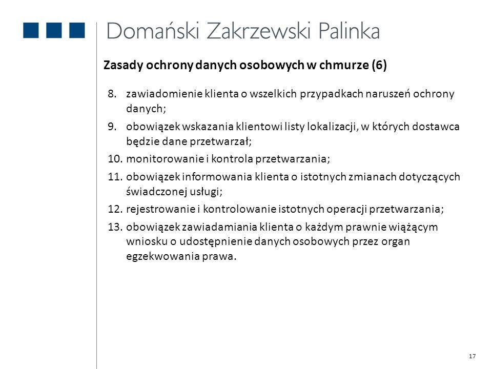 Zasady ochrony danych osobowych w chmurze (6)