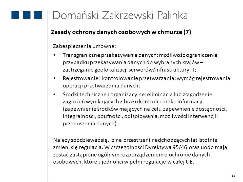 Zasady ochrony danych osobowych w chmurze (7)