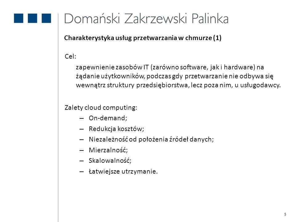 Charakterystyka usług przetwarzania w chmurze (1)