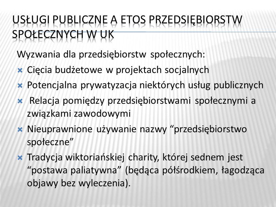 Usługi publiczne a etos przedsiębiorstw społecznych w UK