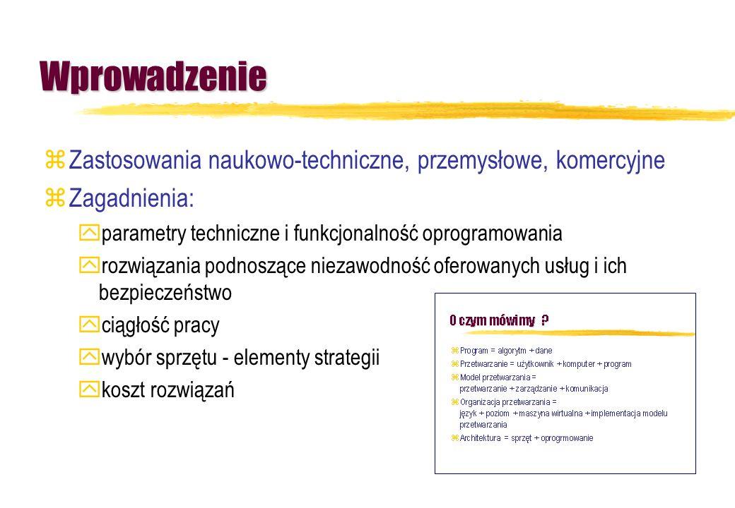 Wprowadzenie Zastosowania naukowo-techniczne, przemysłowe, komercyjne