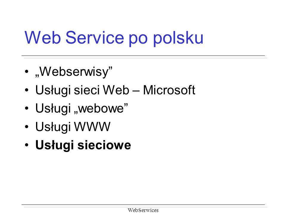"""Web Service po polsku """"Webserwisy Usługi sieci Web – Microsoft"""