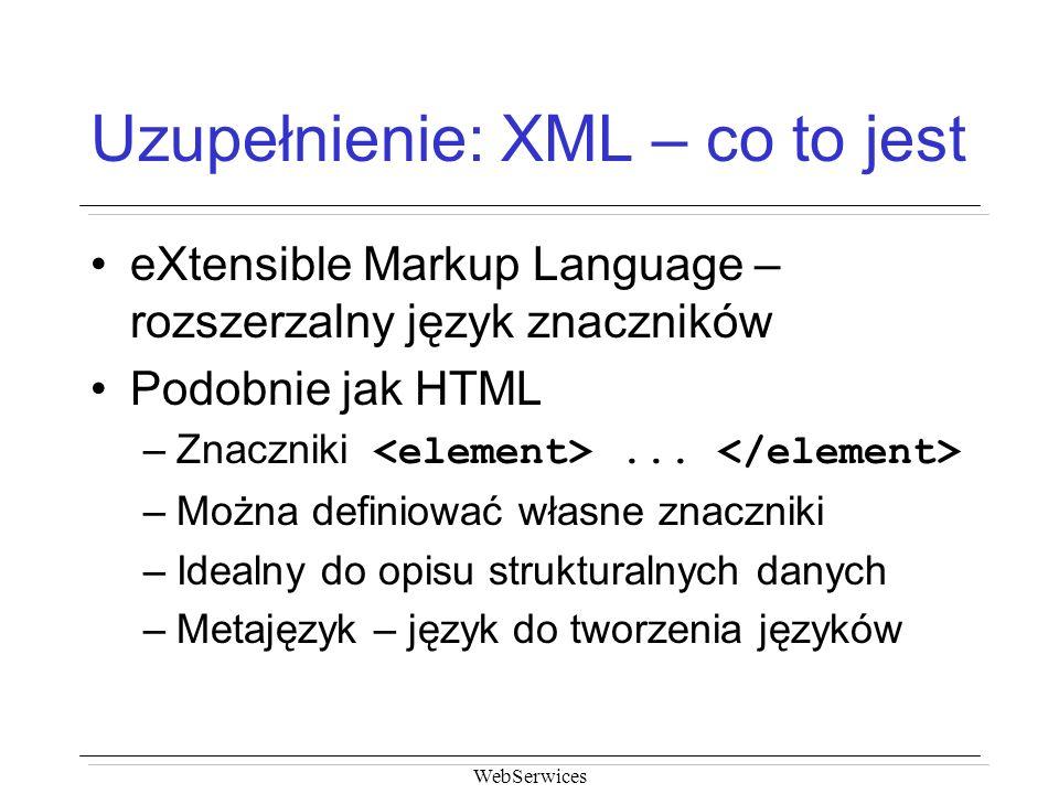 Uzupełnienie: XML – co to jest