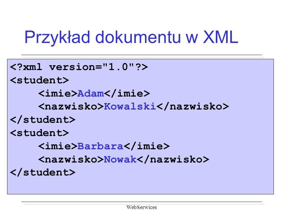 Przykład dokumentu w XML