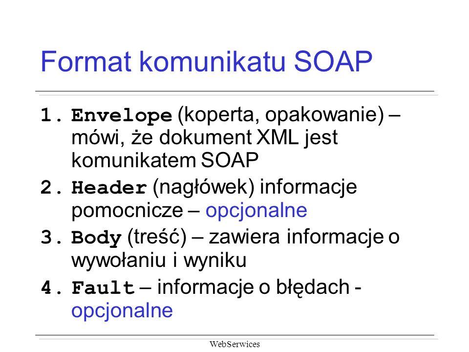 Format komunikatu SOAP