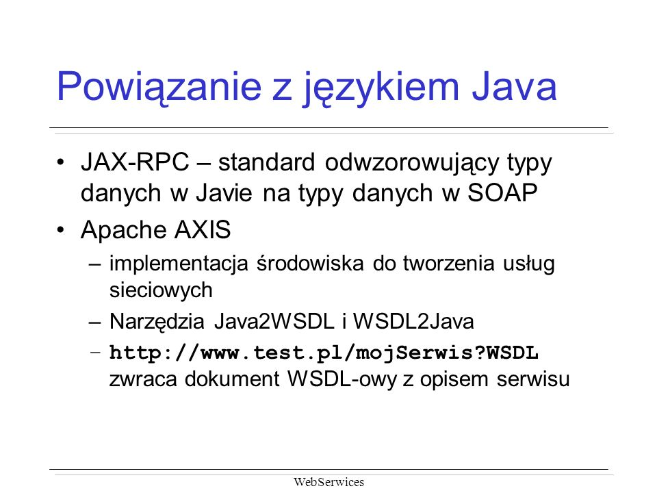 Powiązanie z językiem Java