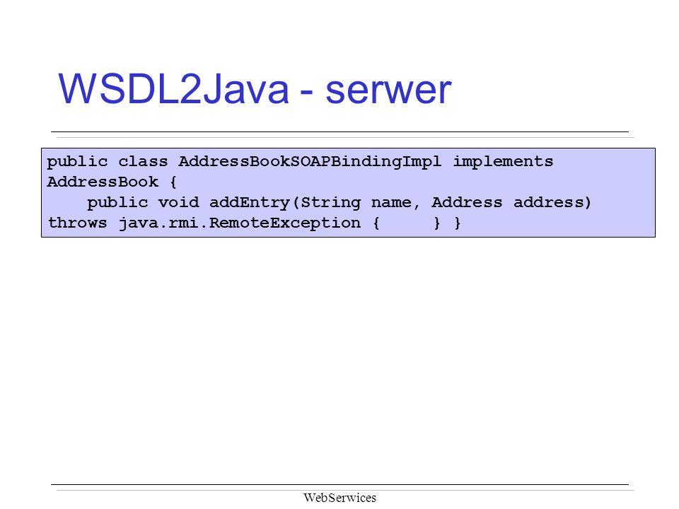 WSDL2Java - serwer