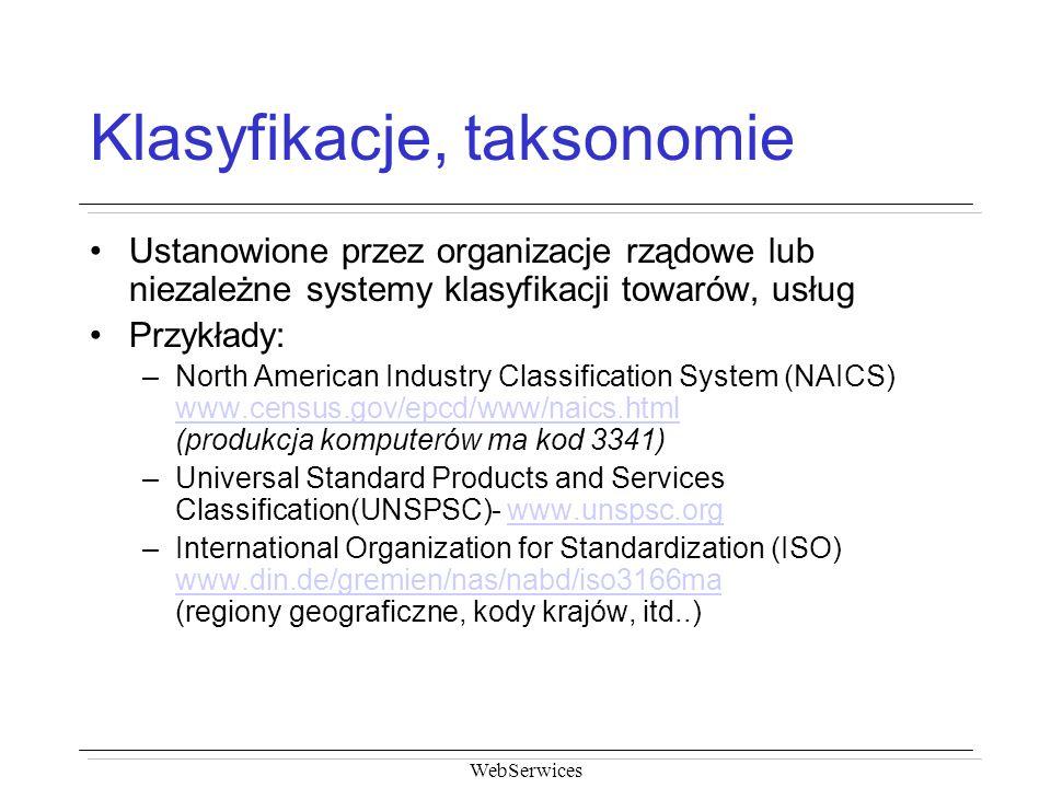 Klasyfikacje, taksonomie