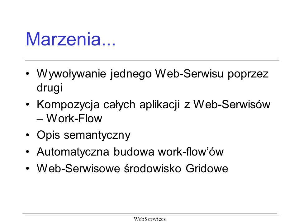 Marzenia... Wywoływanie jednego Web-Serwisu poprzez drugi