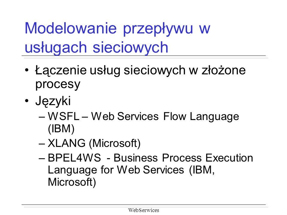 Modelowanie przepływu w usługach sieciowych