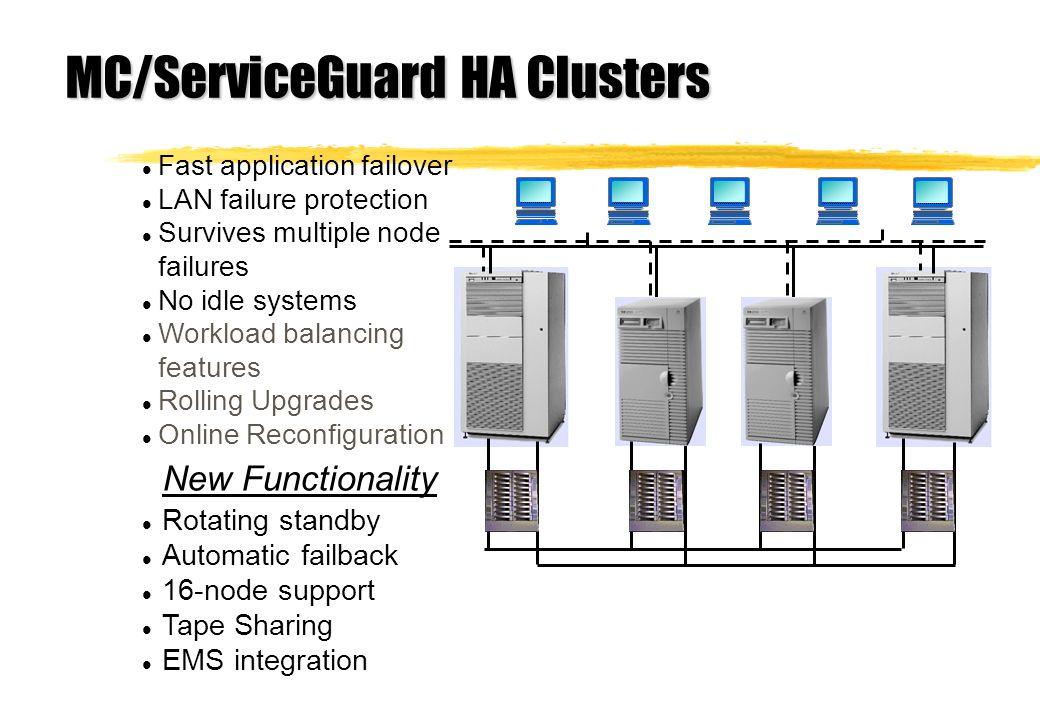 MC/ServiceGuard HA Clusters