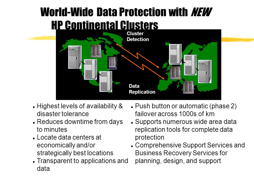World-Wide Data Protection with NEW HP Continental Clusters