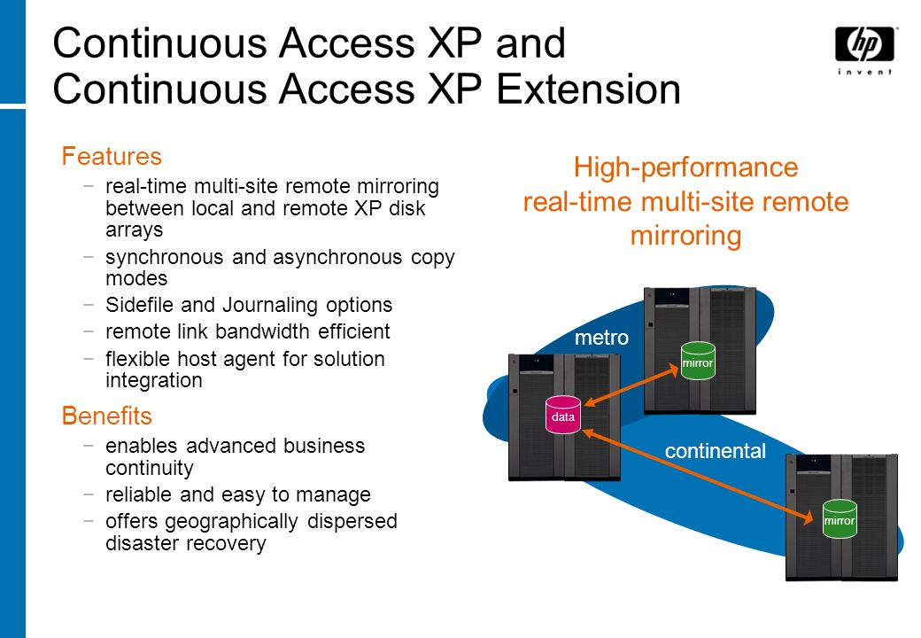 Continuous Access XP and Continuous Access XP Extension