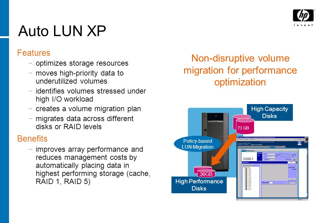 Non-disruptive volume migration for performance optimization