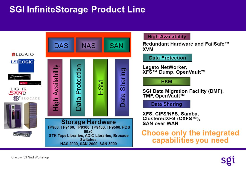 SGI InfiniteStorage Product Line
