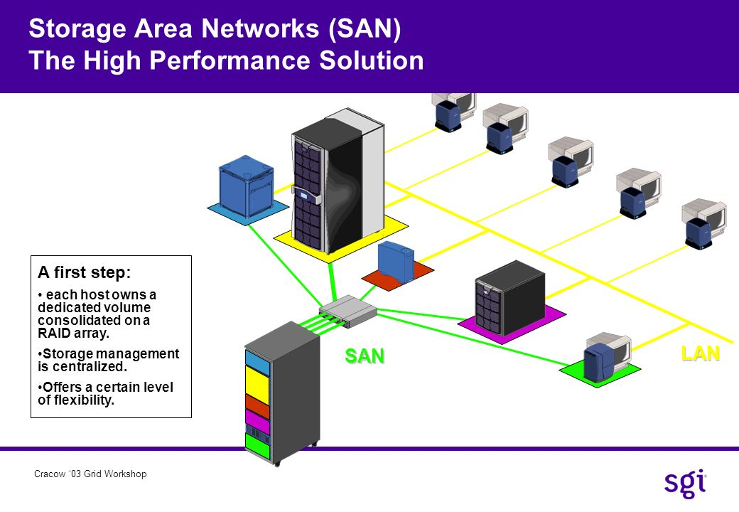 Storage Area Networks (SAN) The High Performance Solution