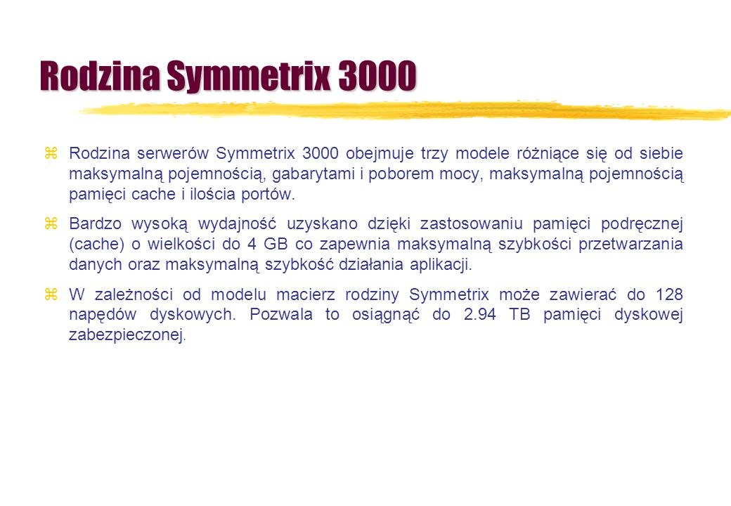 Rodzina Symmetrix 3000