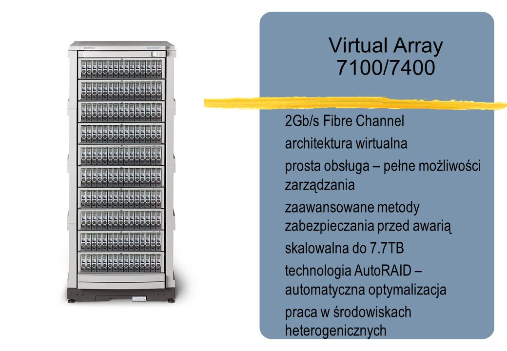 Virtual Array 7100/7400 2Gb/s Fibre Channel architektura wirtualna