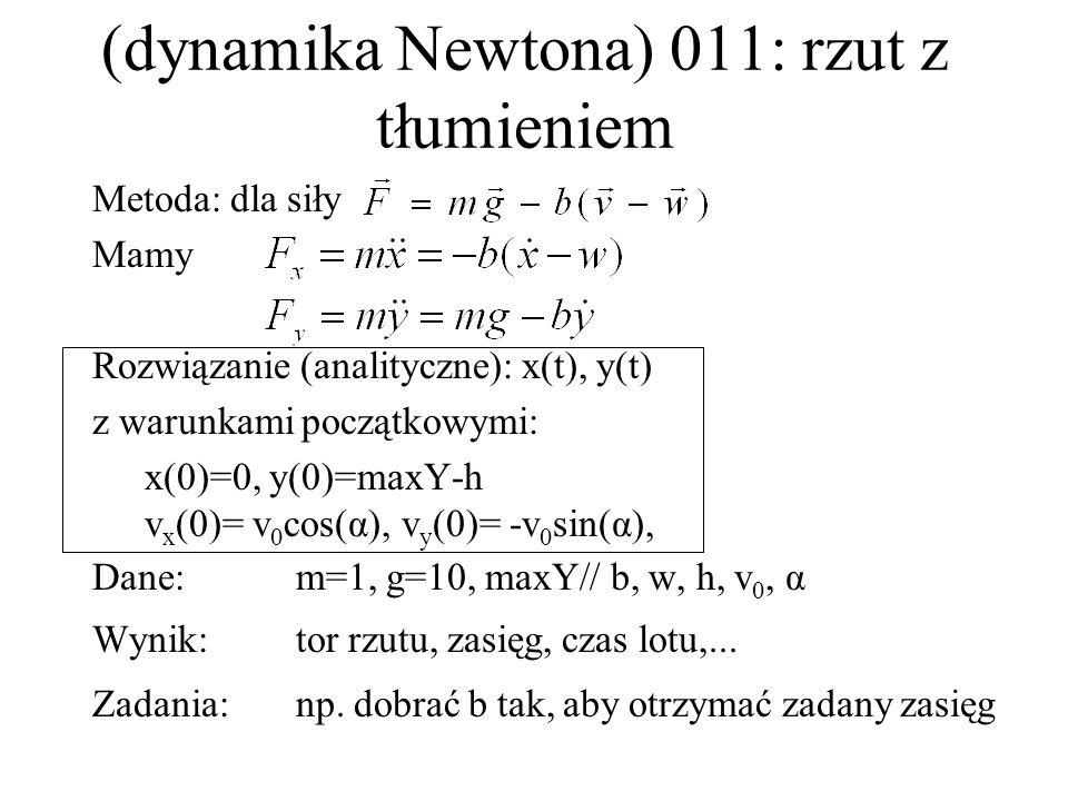 (dynamika Newtona) 011: rzut z tłumieniem