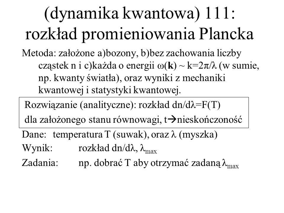 (dynamika kwantowa) 111: rozkład promieniowania Plancka