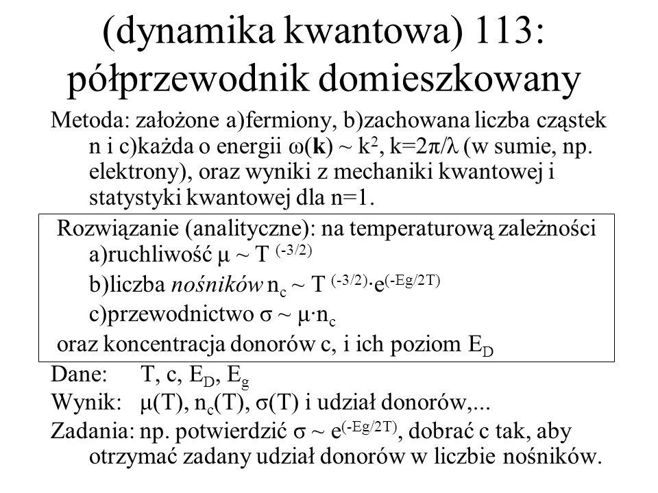 (dynamika kwantowa) 113: półprzewodnik domieszkowany
