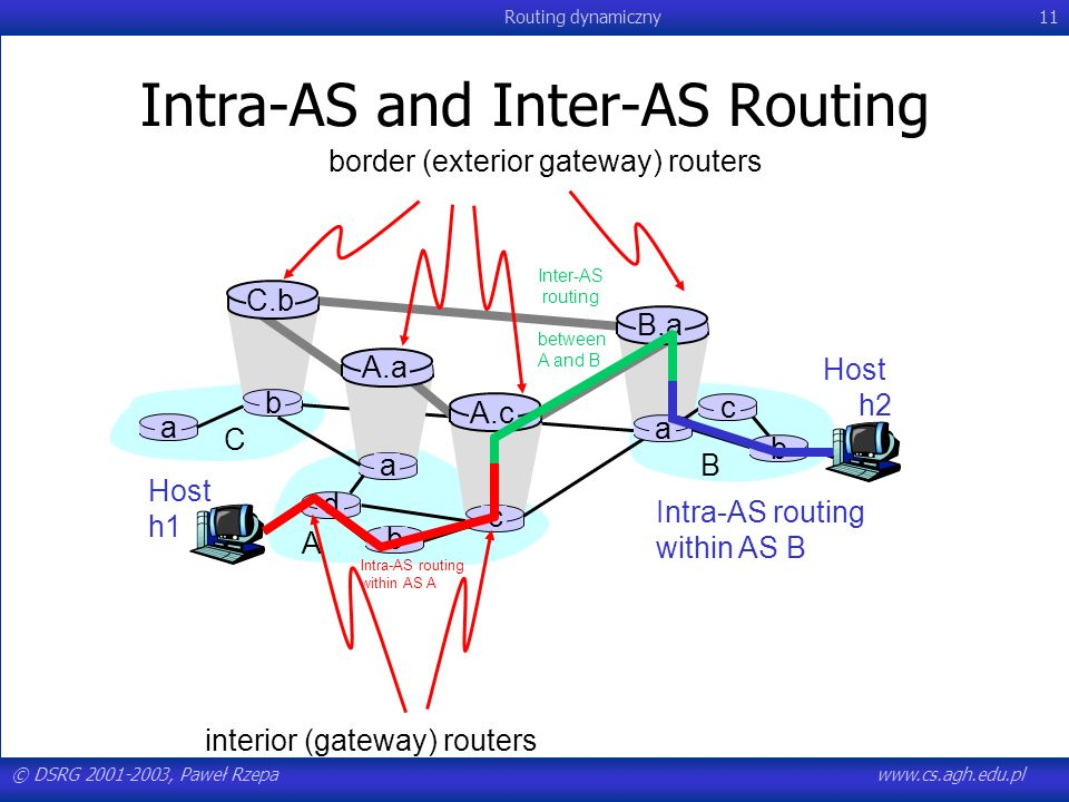 Intra-AS and Inter-AS Routing