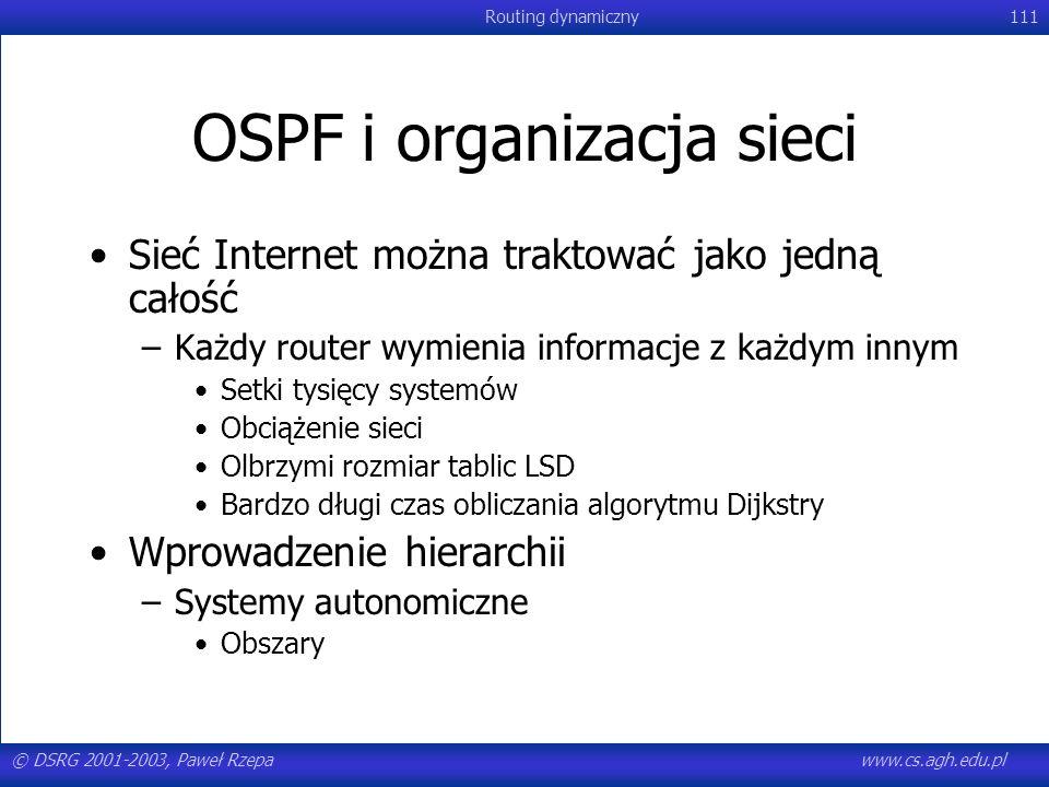OSPF i organizacja sieci