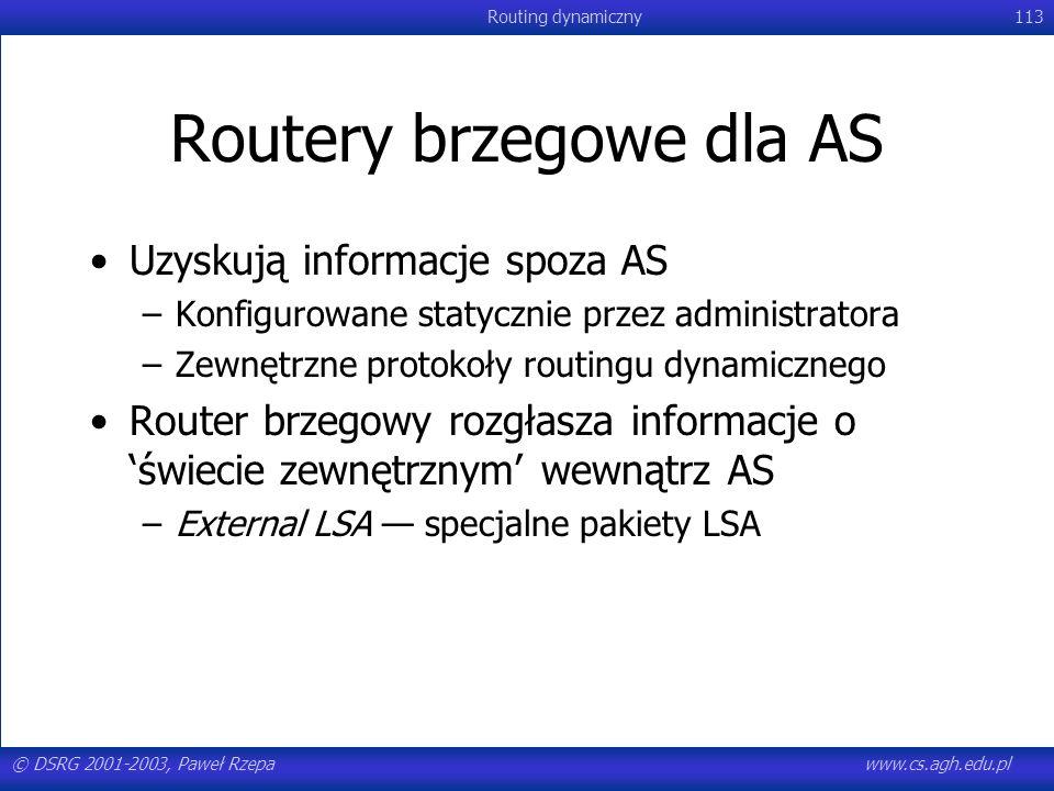 Routery brzegowe dla AS