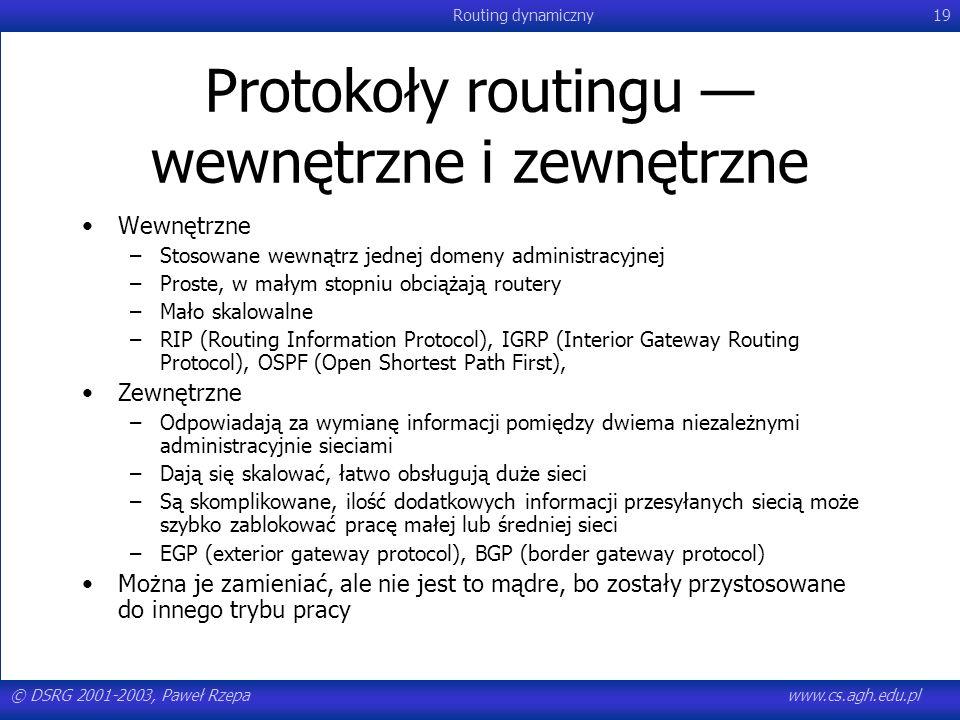 Protokoły routingu — wewnętrzne i zewnętrzne