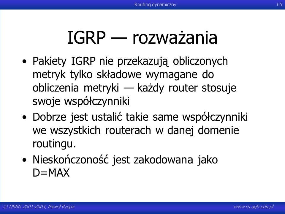 IGRP — rozważania