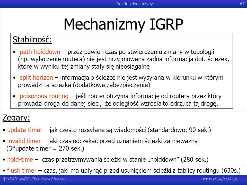 Mechanizmy IGRP Stabilność: Zegary: