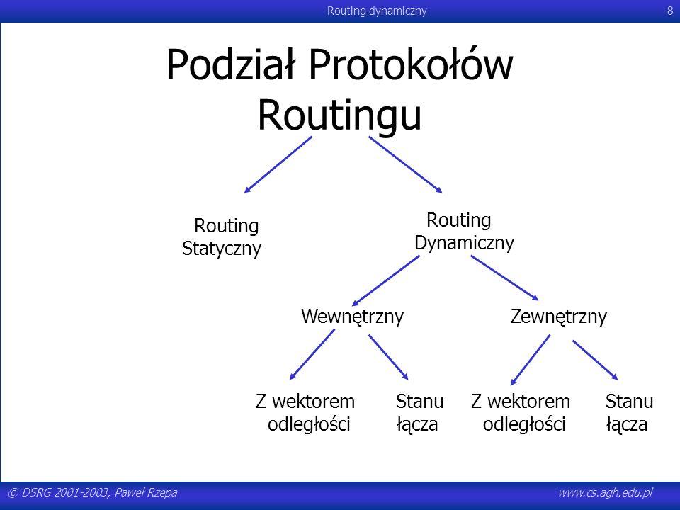 Podział Protokołów Routingu