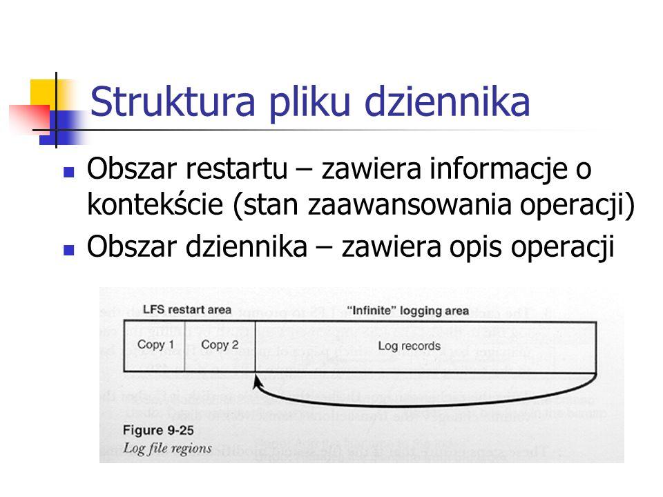 Struktura pliku dziennika